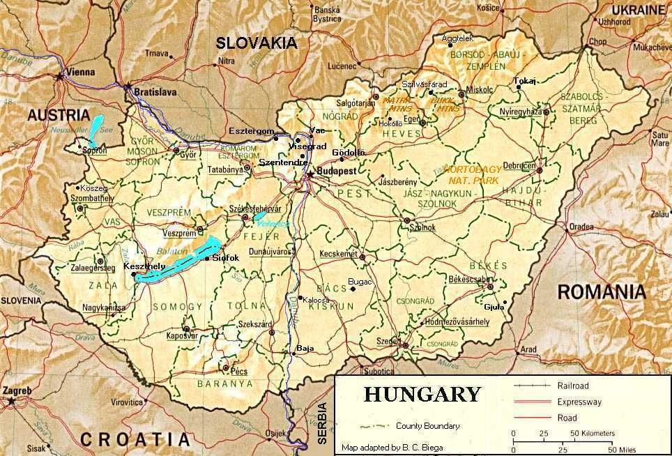The shape of Hungary our house is located in the Bukk northeast