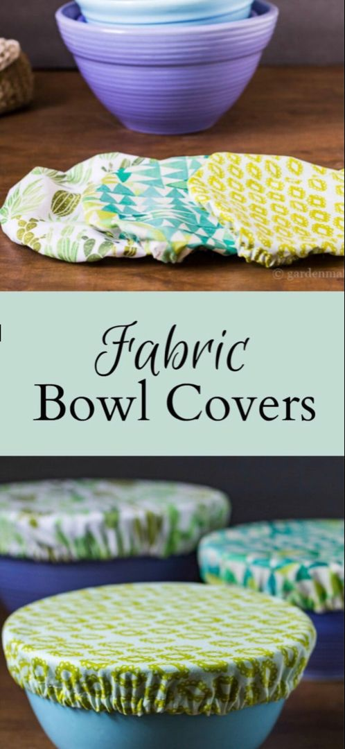 Fabric Bowl Covers Tutorial - Easy Beginner Sewing Project