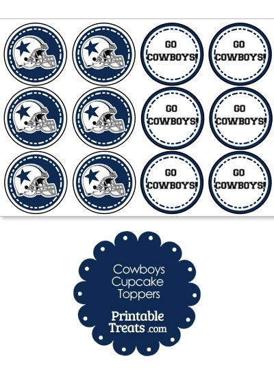 Dallas Cowboys Cupcake Toppers from PrintableTreats.com  63662ce052c