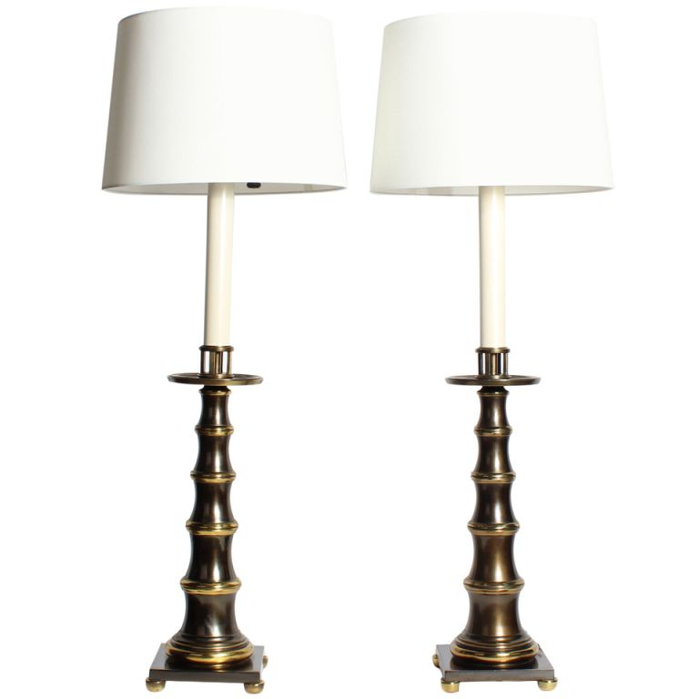 1stdibs Pair Of Patinated Brass Faux Bamboo Lamps Lamp Faux Bamboo Table Lamp
