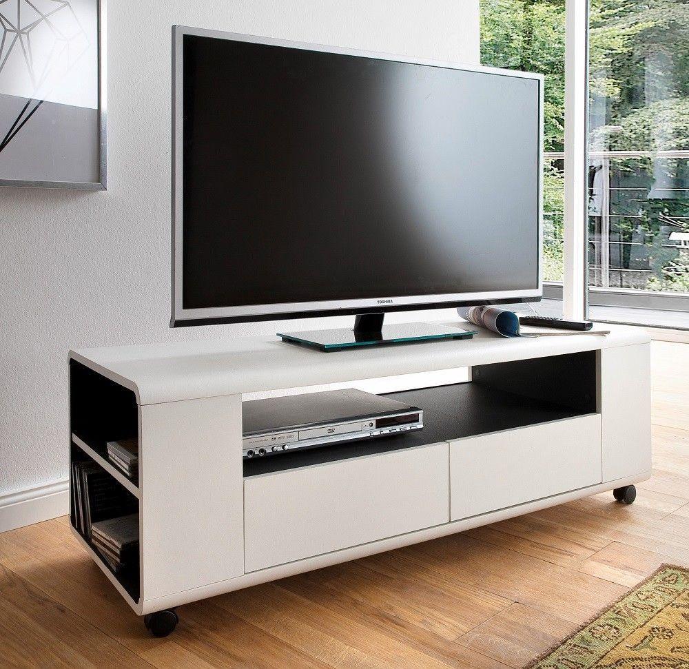 Details Zu Lowboard Auf Rollen Unterschrank Tv Bank