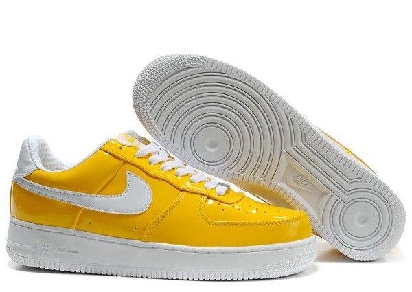 Nike Slam Jam Yellow/White Air Force 25 Low Supreme I/O-Tier