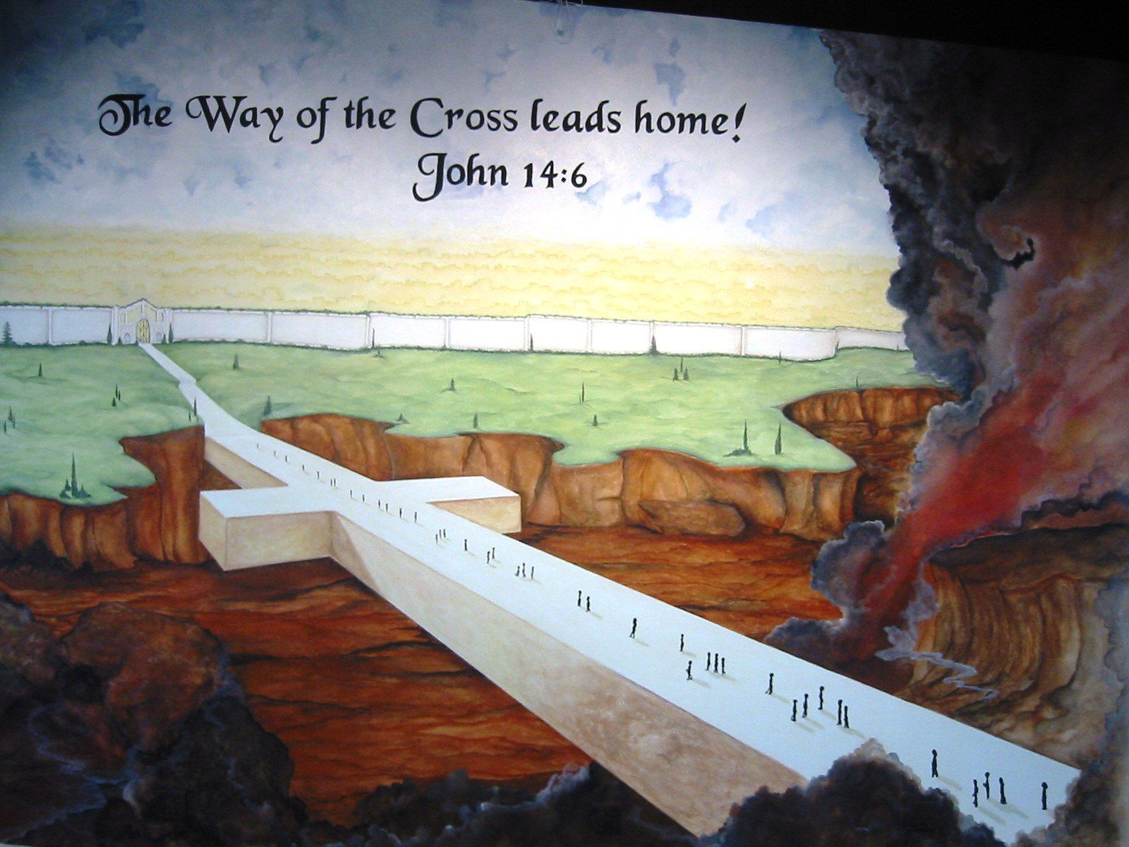 Background mural for church youth center stage youth and for Church wall mural