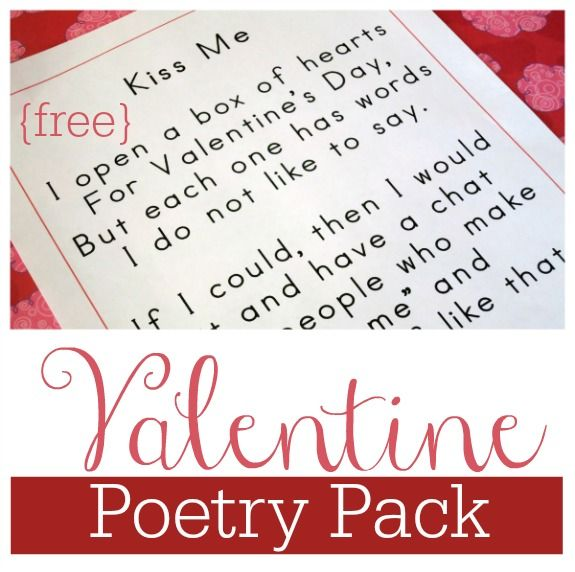 FREE Valentine Poetry Pack  This Reading Mama