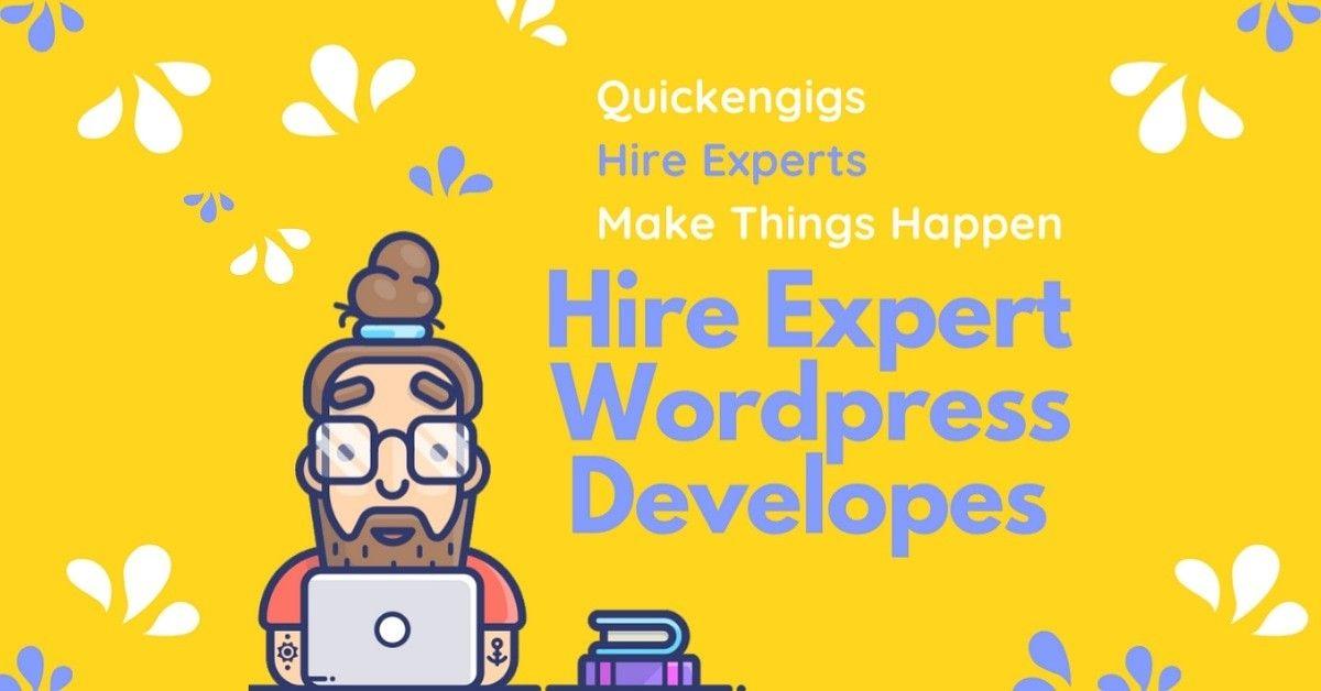 Hire Expert Wordpress Developers Designers In 2020 Freelancing Jobs Online Jobs Tech Startups