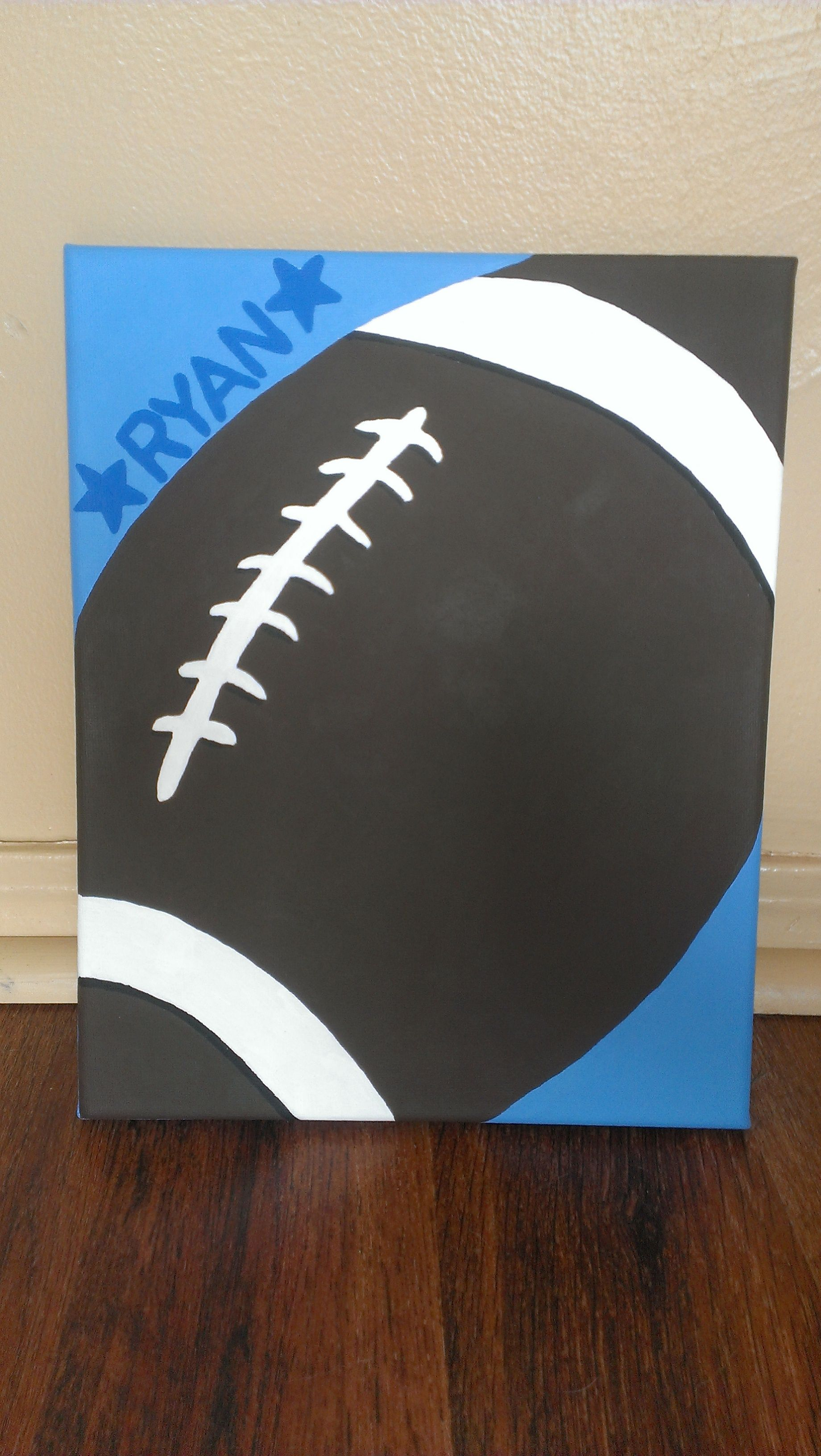 8X10 Resume Paper Delectable Football Kids Canvas  8X10  My Canvas Paintings  Pinterest  Kids .