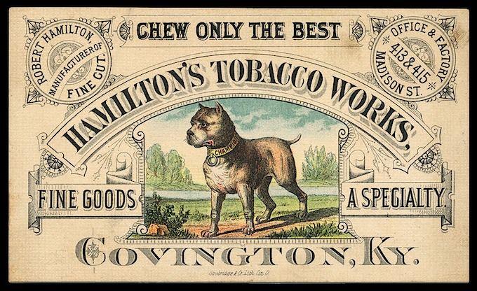 Hamilton S Tobacco Works Sheaff Ephemera Vintage Business Cards Retro Business Card Design Vintage Labels