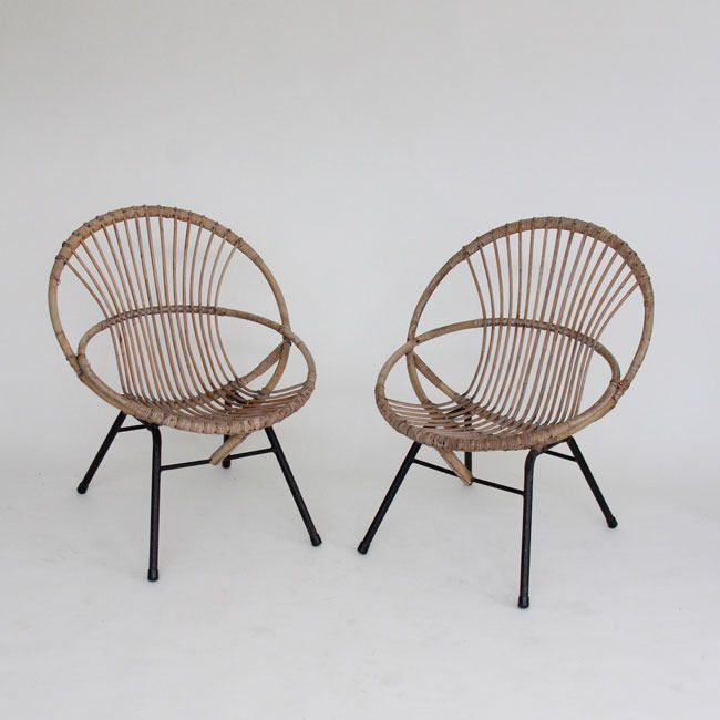 Image Of Rattan Hoop Chairs Awesome Design