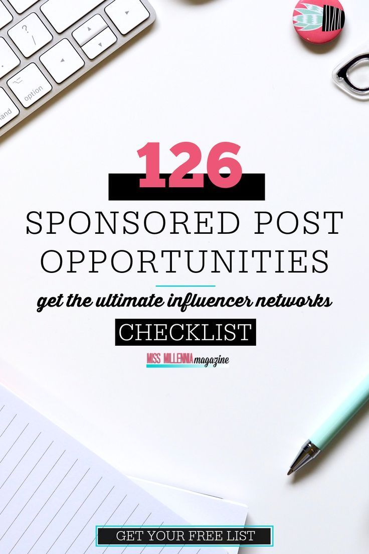 Do you want to make money on your blog but don't know how to get started? You're not sure what to charge for sponsored content or how to keep the opportunities rolling in? This post will show you step-by-step how to make money with sponsored posts and content on your blog. Plus, as a bonus, a FREE list of 126 Influencer networks to get you started making money NOW!