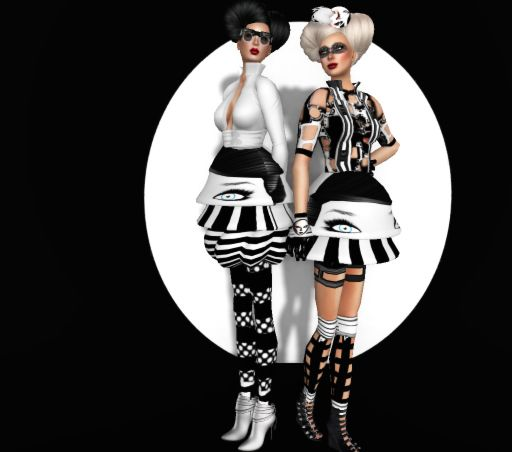 Ad 3 - MonoChrome ll  Circa 2010 - Models: Scarlett Niven & Kyrie Source - Photo by Kyrie Source