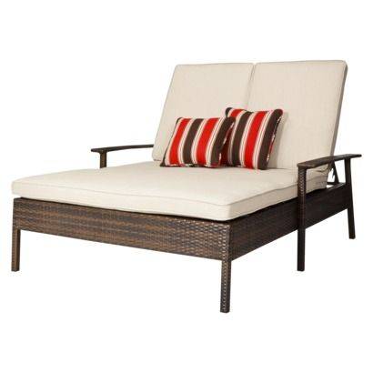 Target Threshold™ Rolston Wicker Patio Double Chaise Lounge