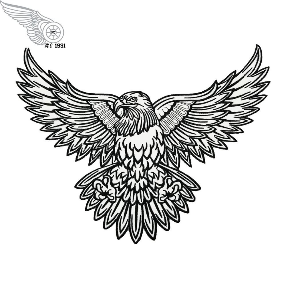 BALD EAGLE HEAD-AMERICAN EAGLE-BIRD-PATRIOTIC-USA//Iron On Embroidered Patch