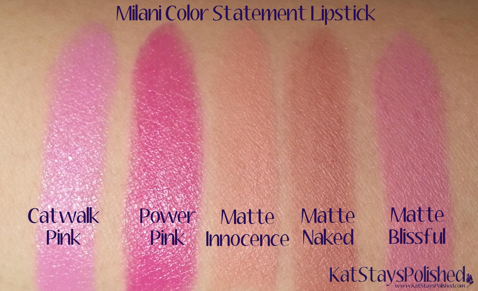 Milani Color Statement Matte Lipstick | Kat Stays Polished ...