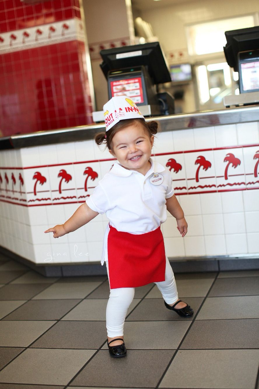 In n out burger baby costume Little girl halloween