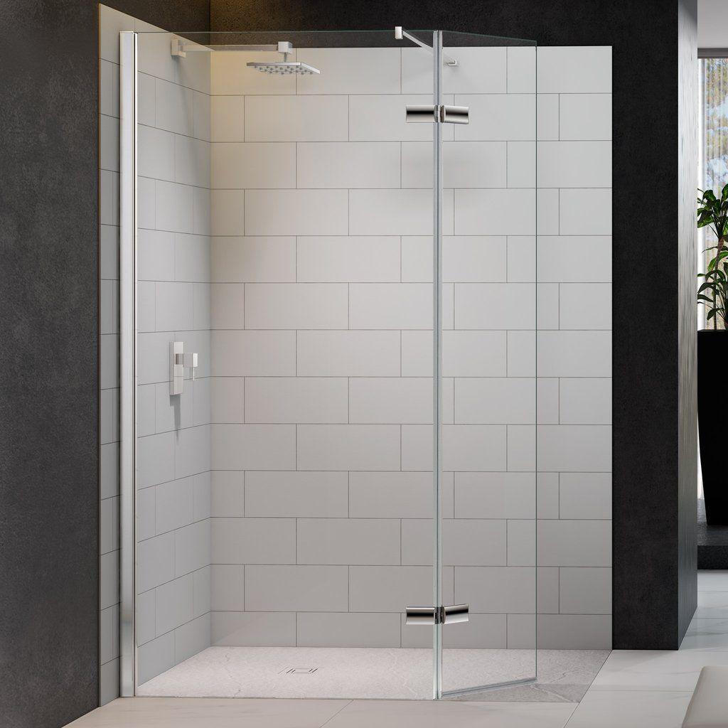 Merlyn 8 Series Showerwall Hinged Swivel Panel Bathroomvillage Com Showerenclosure Bathroomdesign Wet Room Shower Screens Wet Rooms Bathroom Design Small