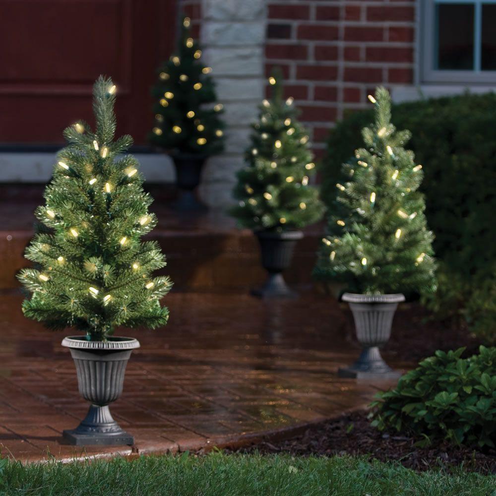 The Cordless Prelit Pathway Trees Pre lit christmas tree