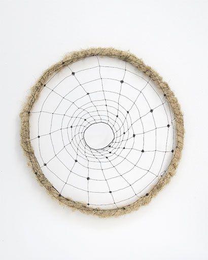"Mari Andrews    Vortex, 2008, wire, tree moss, 24 x 20 x 5"""