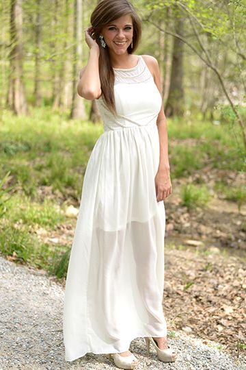 Timeless Elegance Maxi White Dress Casual Dresses