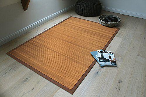 Bambusmatte Badezimmer ~ Bambusteppich gentle 90x160cm 17mm stege breite bordüre