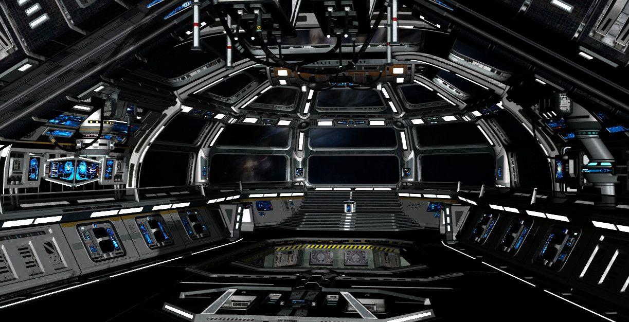 single person bridge sci fi spacecraft - photo #15