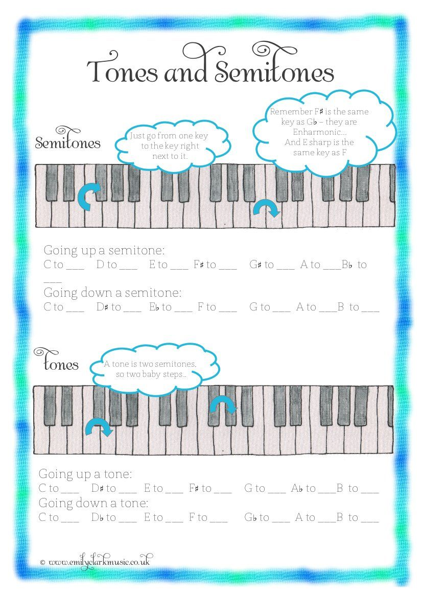 worksheet Tones And Semitones Worksheet tones and semitones more great worksheets musik pinterest worksheets