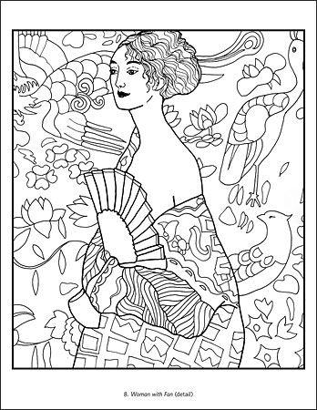 Gustav Klimt Coloring Book Klimt Art Coloring Books Gustav Klimt