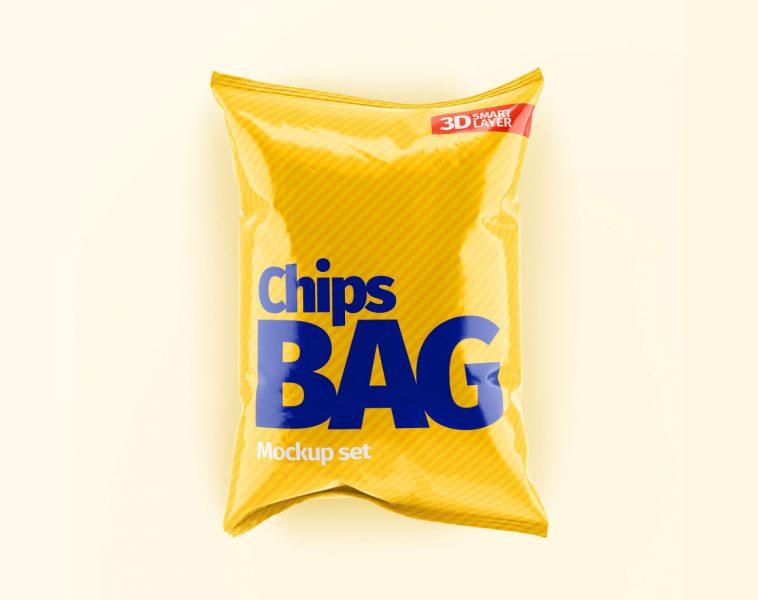 Download Chips Bag Snack Packet Mockup Glossy Matt Free Package Mockups Bag Mockup Chip Bag Mockup