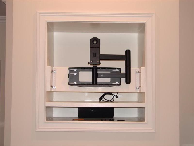 Fireplace Design fireplace tv mount : Mounting Flat Screen TV Covering Old Fireplace Niche, Charlotte ...
