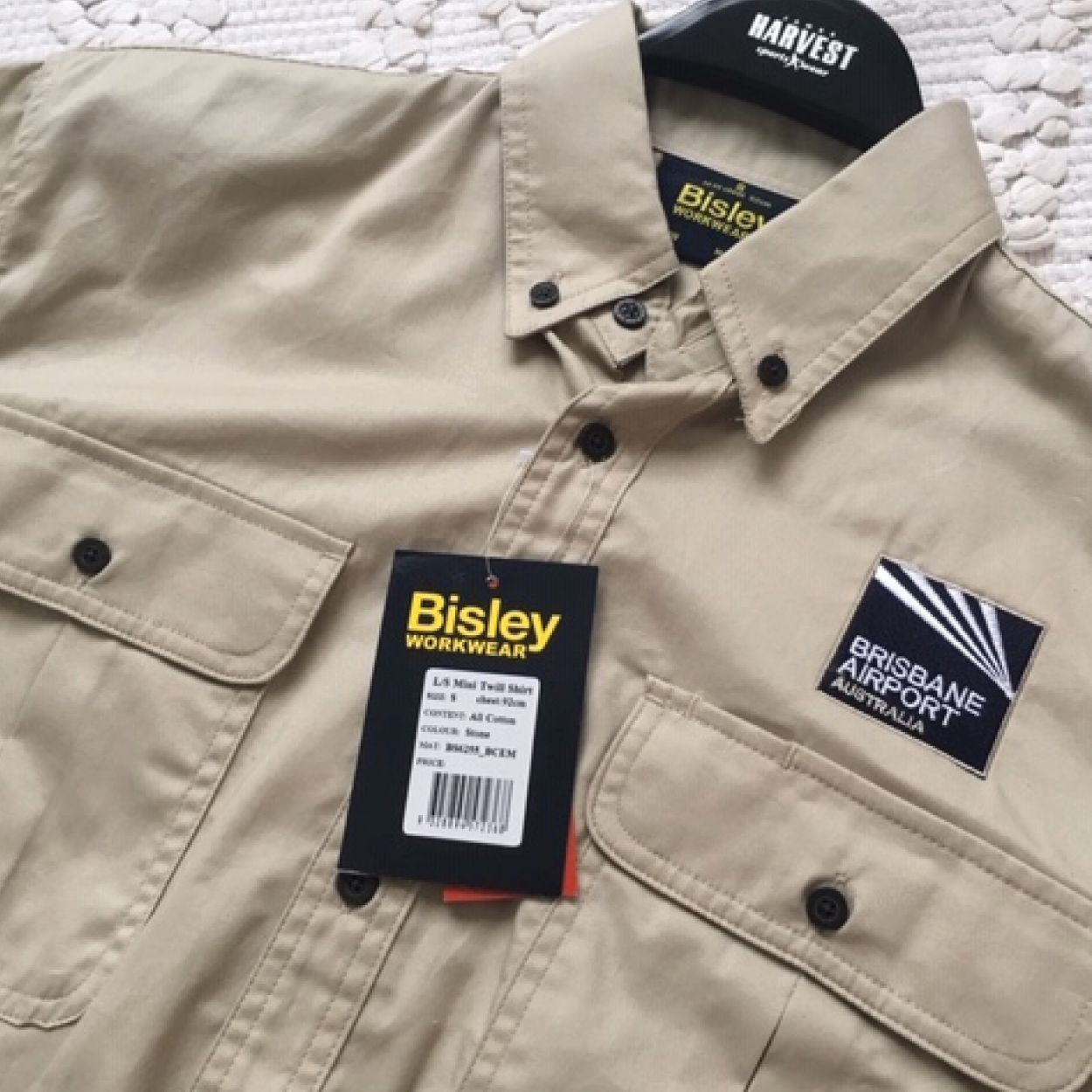 ff0346ff7a5b Bisley mini twill long sleeved work shirts complete with custom logo  embroidery produced for our friends