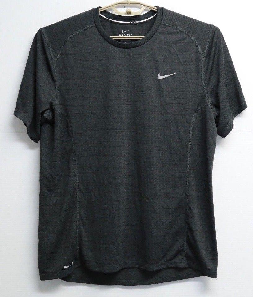 Mens nike dri fit running athletic short sleeve shirt