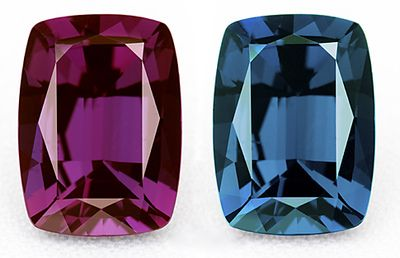 One of the most prized and exotic gemstones is the variety of chrysoberyl known as alexandrite. It is renowned for its dramatic color change from purplish-red under incandescent light to bluish-green in daylight or fluorescent light.