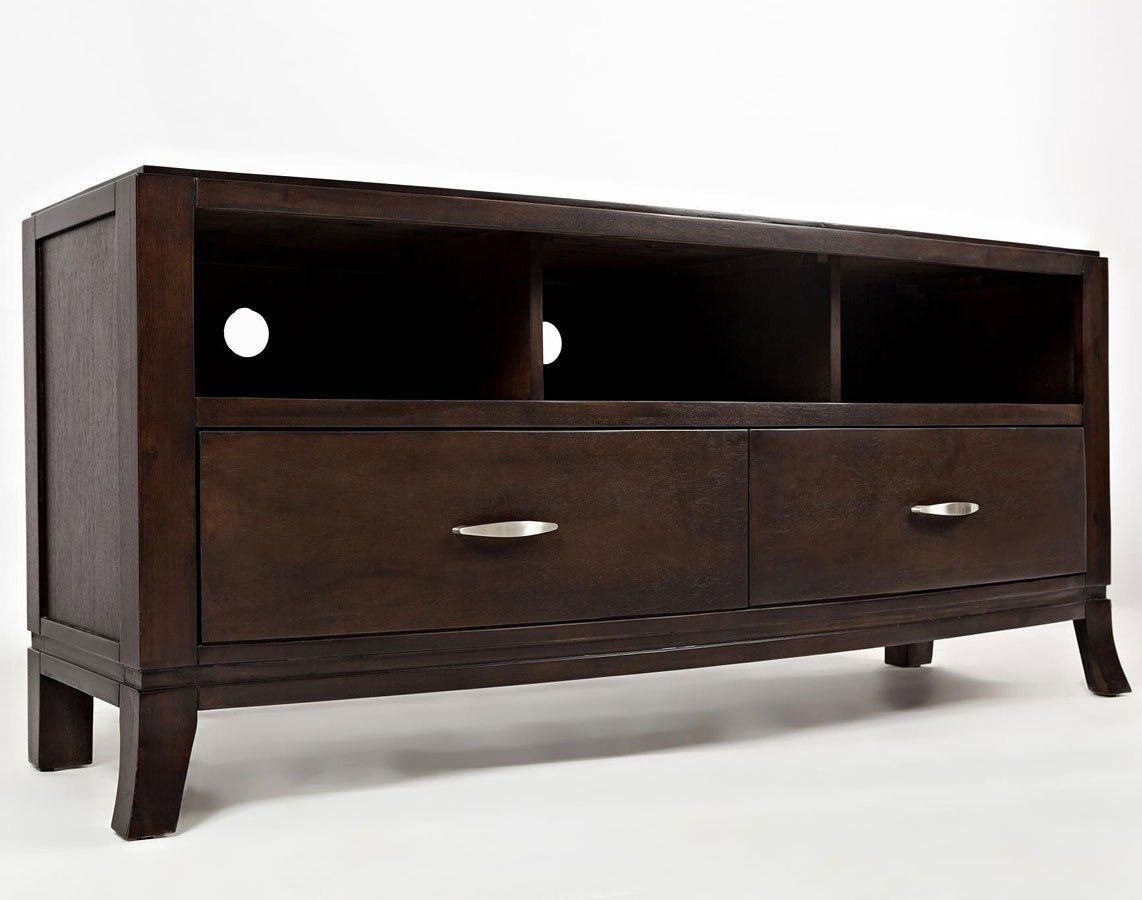 Downtown 60 Inch Media Console Jofran Furniture In Tv Stands And Consoles Easy Curves Subtle Style Make Jofrans Occasional Collection A