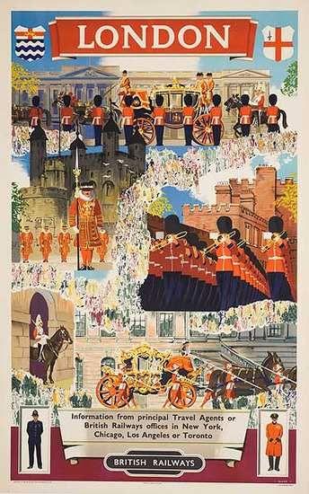 Dp Vintage Posters British Rail Travel Poster London 1950s Travel Posters Train Posters Retro Travel Poster
