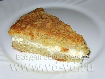 пирог творожный с песочным тестом рецепт с фото