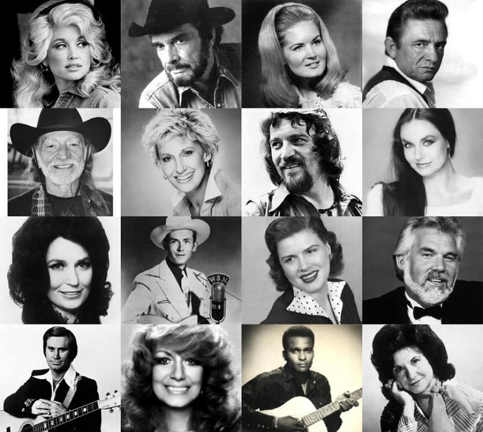Dolly Parton, Merle Haggard, Lynn Anderson, Johnny Cash
