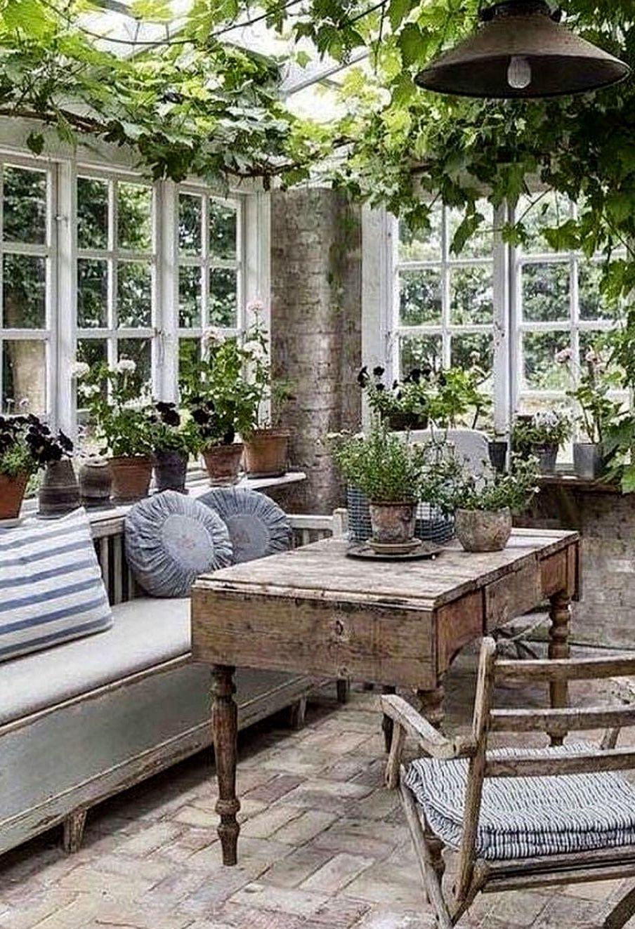 Greenhouse Decoración De Terraza Acristalada Decoraciones