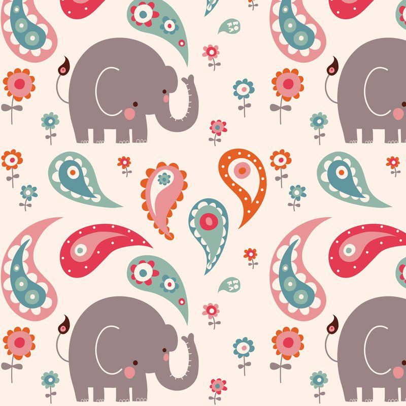 Elephant March Fabric By Endemic For Sale On Spoonflower