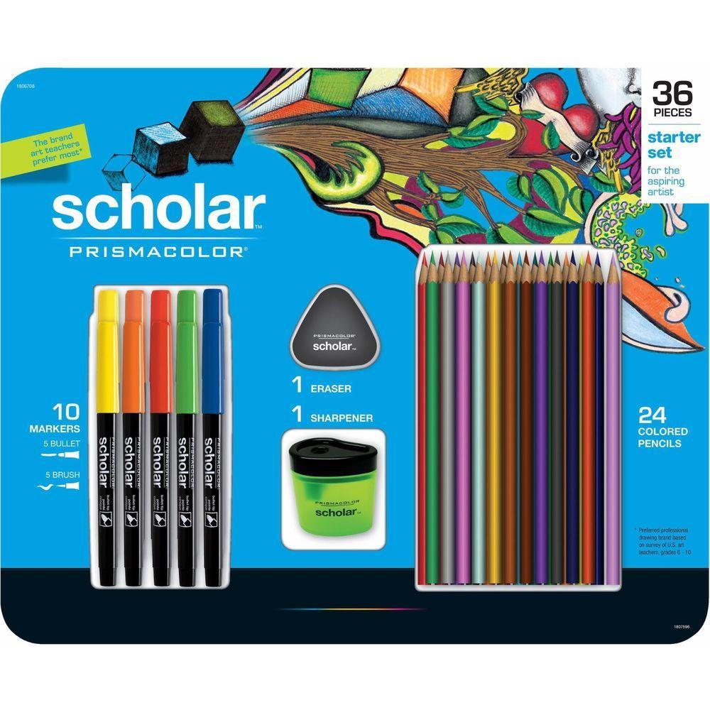 New Prismacolor Scholar 72 Pieces 2 Sets 24 Colored Pencils
