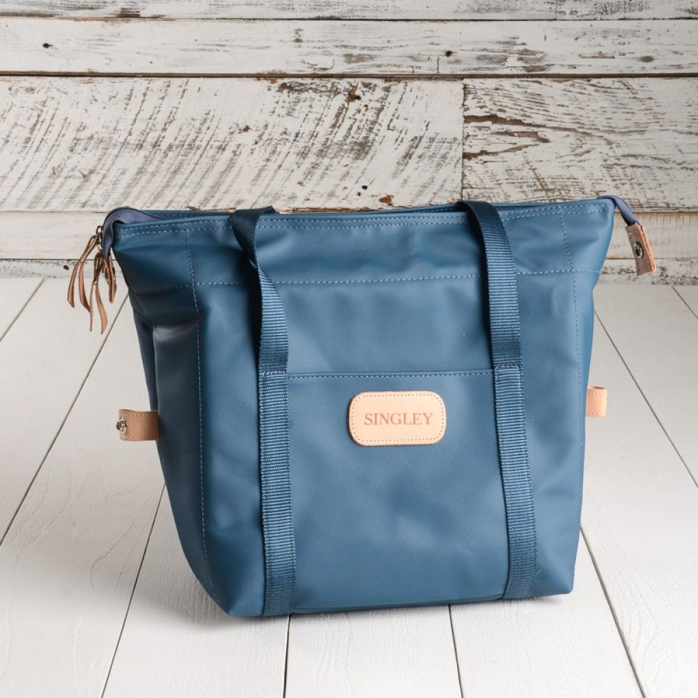 Jon Hart Cooler Bag in French Blue with all natural