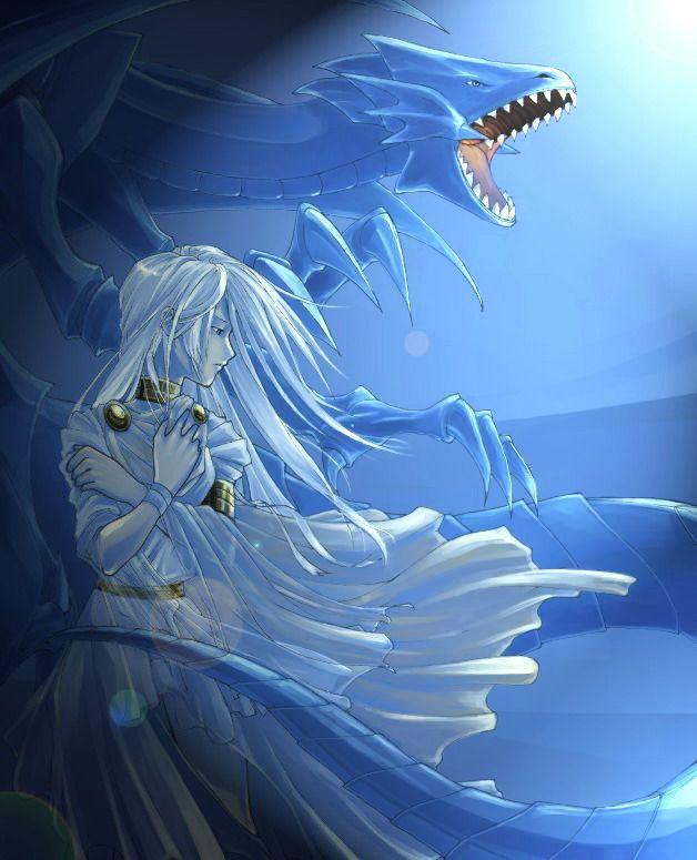 Kisara and blue eyes white dragon
