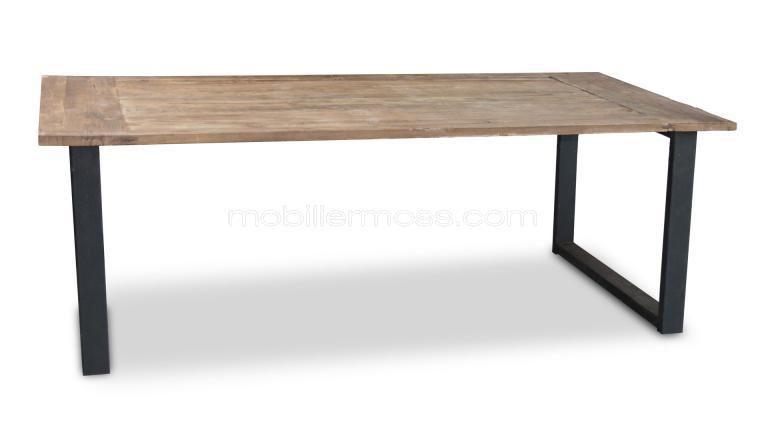 Noldy mesa de comedor industrial retro de dise o vintage for Mesas industriales vintage