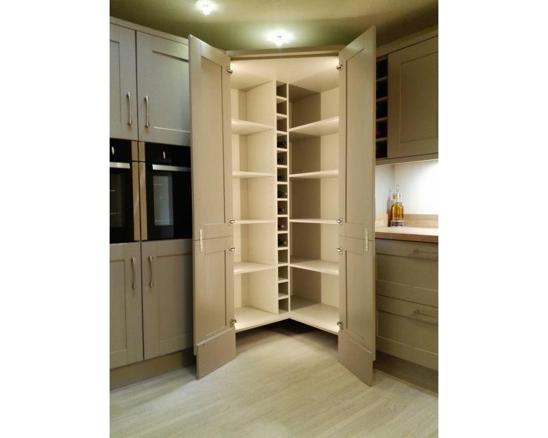 Walk In Larder Unit Buy Kitchen Carcasses Now Kitchen Corner Units Kitchen Corner Cupboard Corner Kitchen Pantry