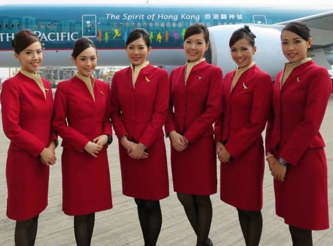 Cathay Pacific flight attendants | San Francisco Intl
