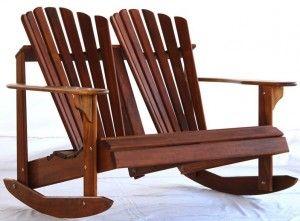 Teak Adirondack Rocking Chair Frontera