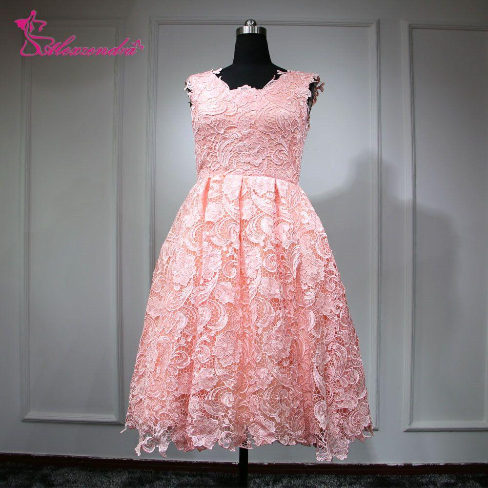 Mini wedding dresses  Click to Buy ucuc Real Photos Pink Short Mini Wedding Dresses A Line