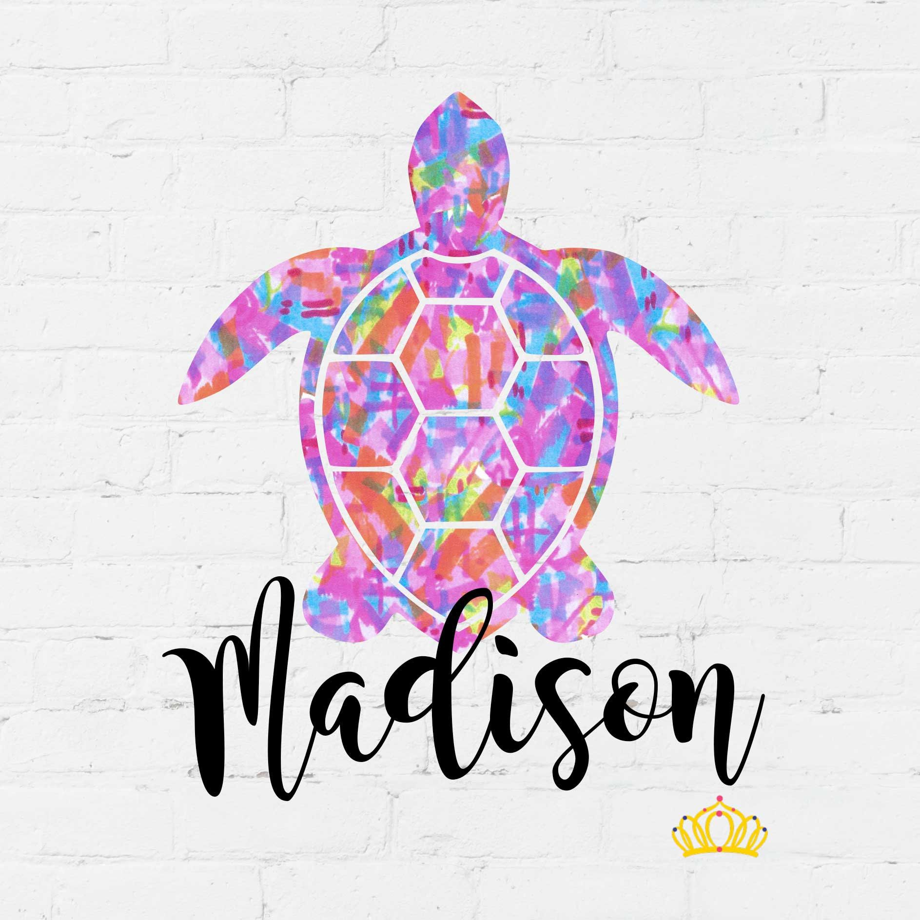 Sea Turtle Name Decal Personalized Beach Vinyl Sticker For Etsy Pattern Decal Yeti Cup Stickers Sea Turtle Decal [ 1887 x 1887 Pixel ]