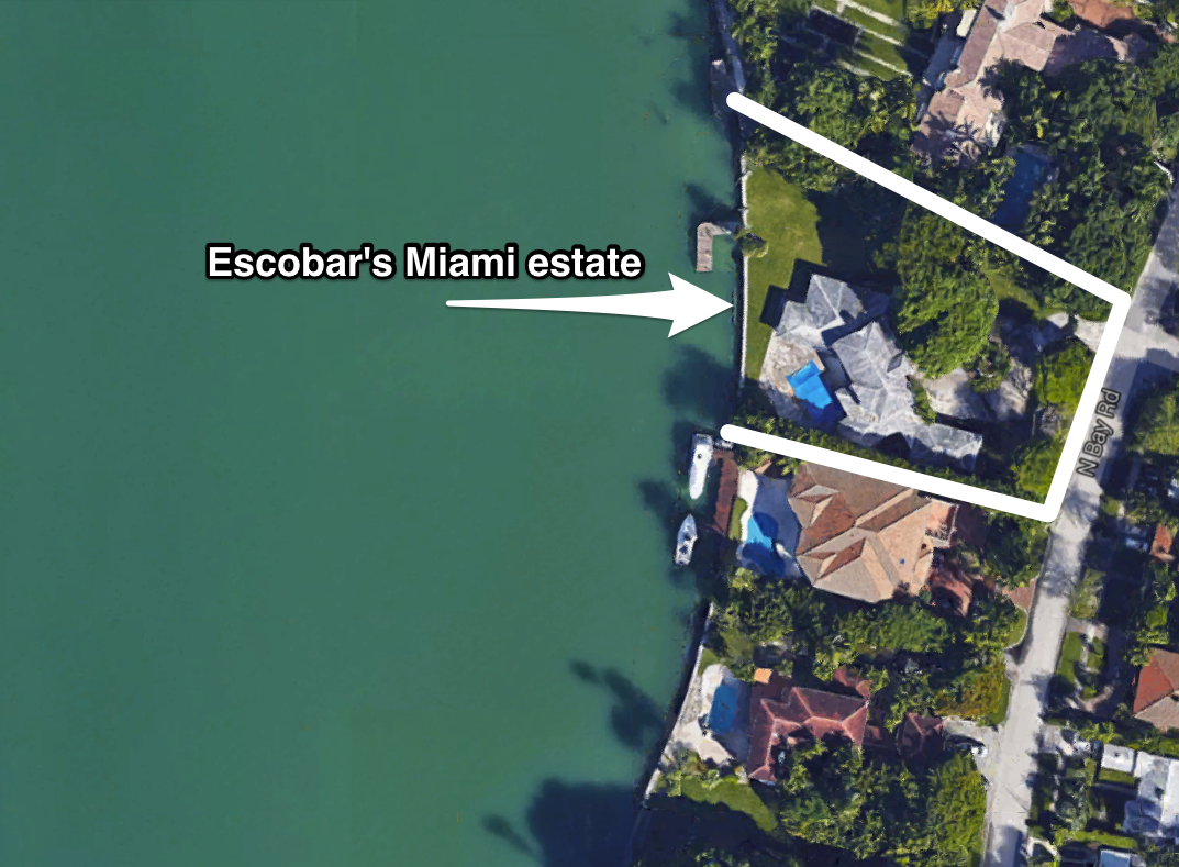 Pablo Escobar House Miami Address Escobar Gaviria Cartel