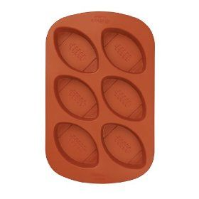 Mini Football Silicone Mold Great For Brownies Crayons Party