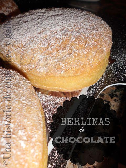 Una historia de Cupcakes y Galletas. receta berlinas