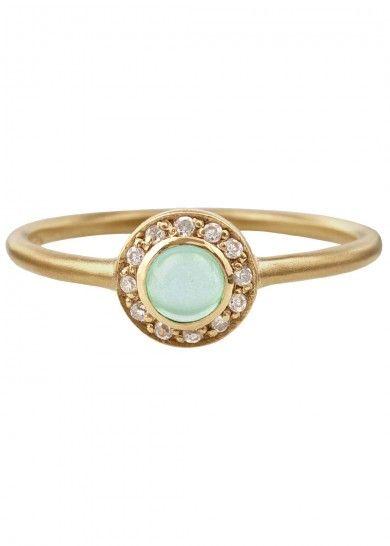 Liberty Ring, gold, green